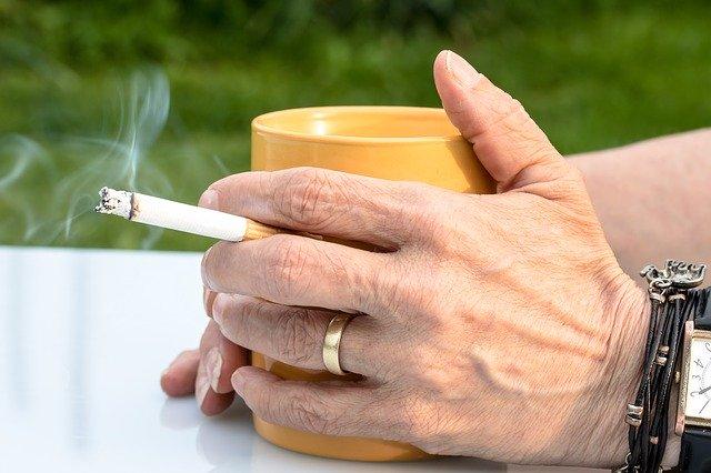 Cigarette and a coffee