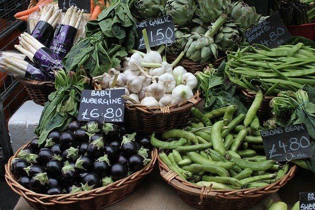 Market shopping for vegetables