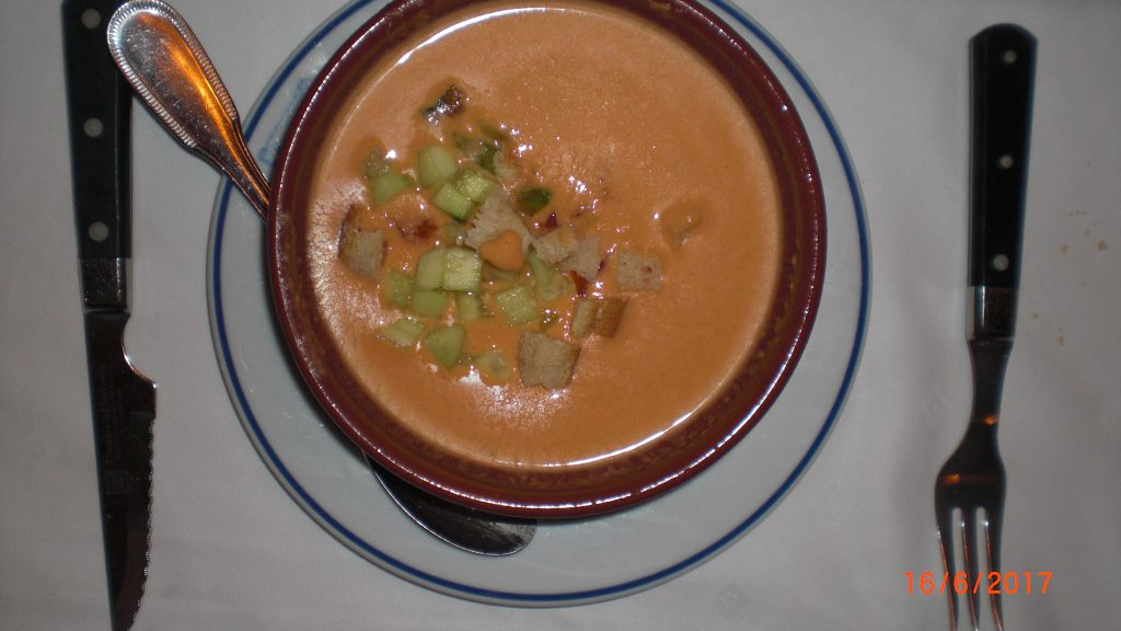 Gazpacho, such a healthy cold soup