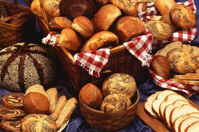 Different types of breads