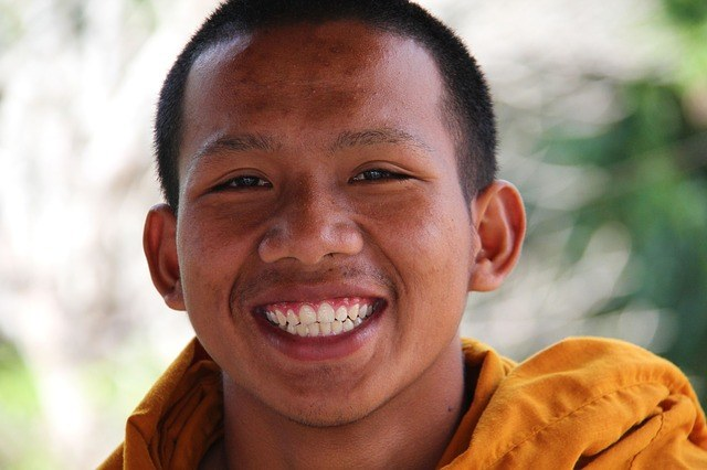 The healthy teeth of a monk