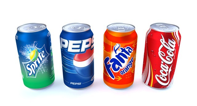 Different brands of Soda