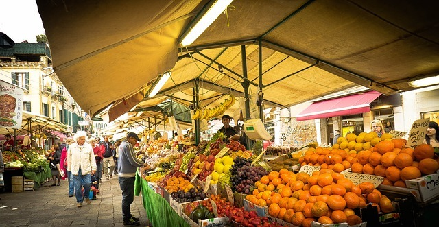 Vegetable and fruit market in Italy