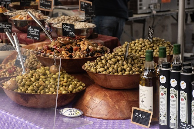 A variety of olives