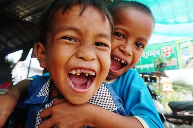 Small children in Cambodia