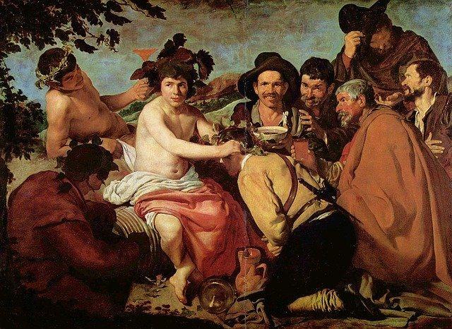 The triumph of Bacchus by Diego Velazquez