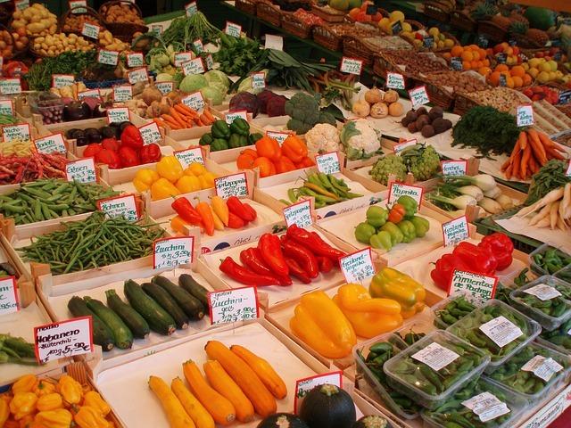 Colorful Vegetable Market